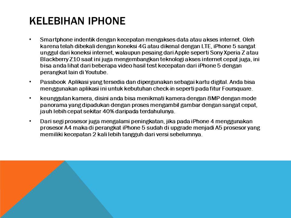Kelebihan iphone