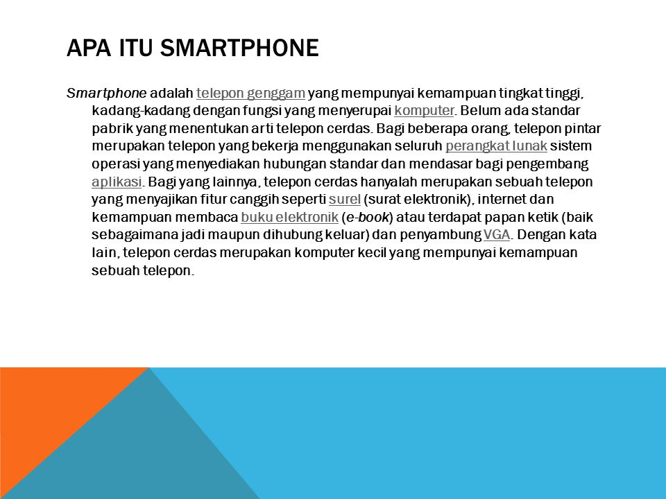 Apa itu smartphone