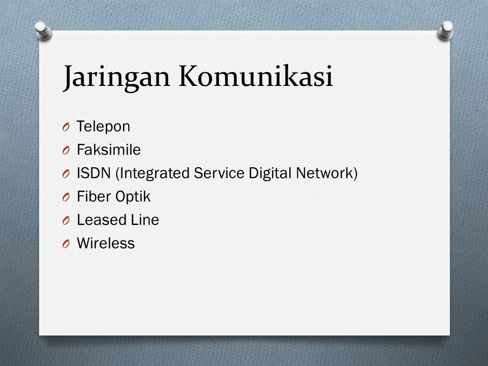Jaringan Komunikasi Telepon Faksimile