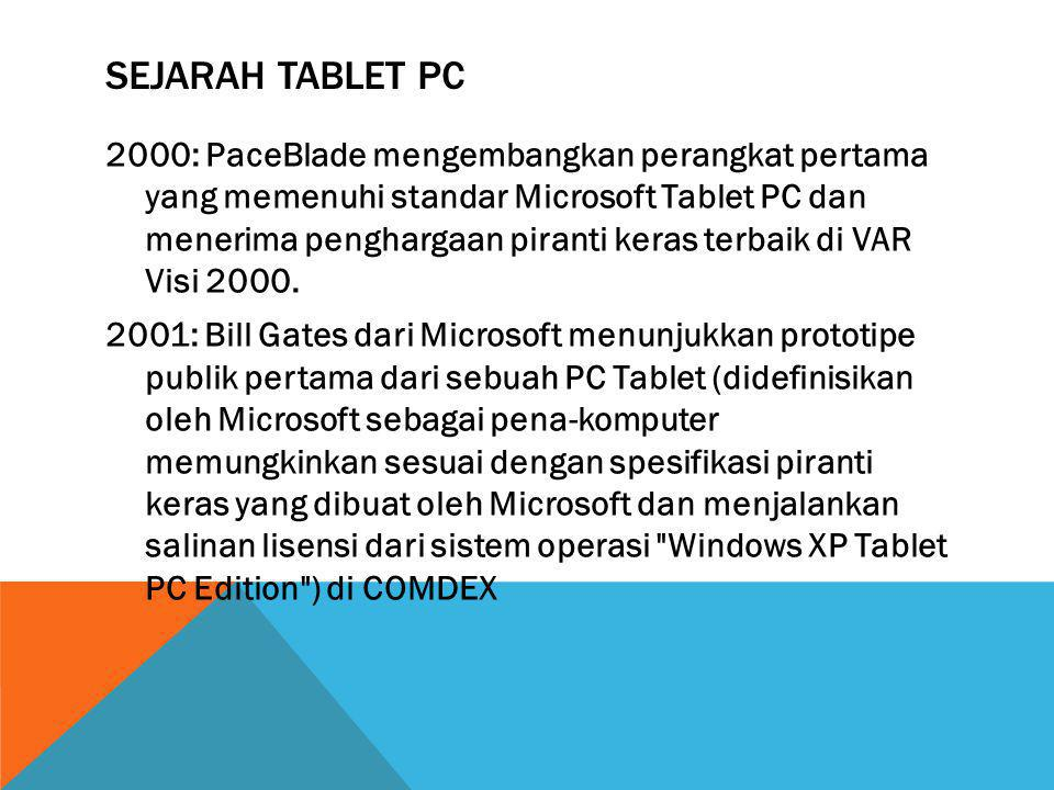 SEJARAH TABLET PC