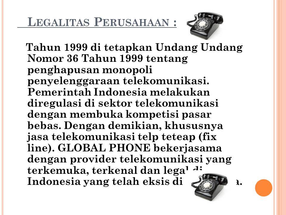 Legalitas Perusahaan :