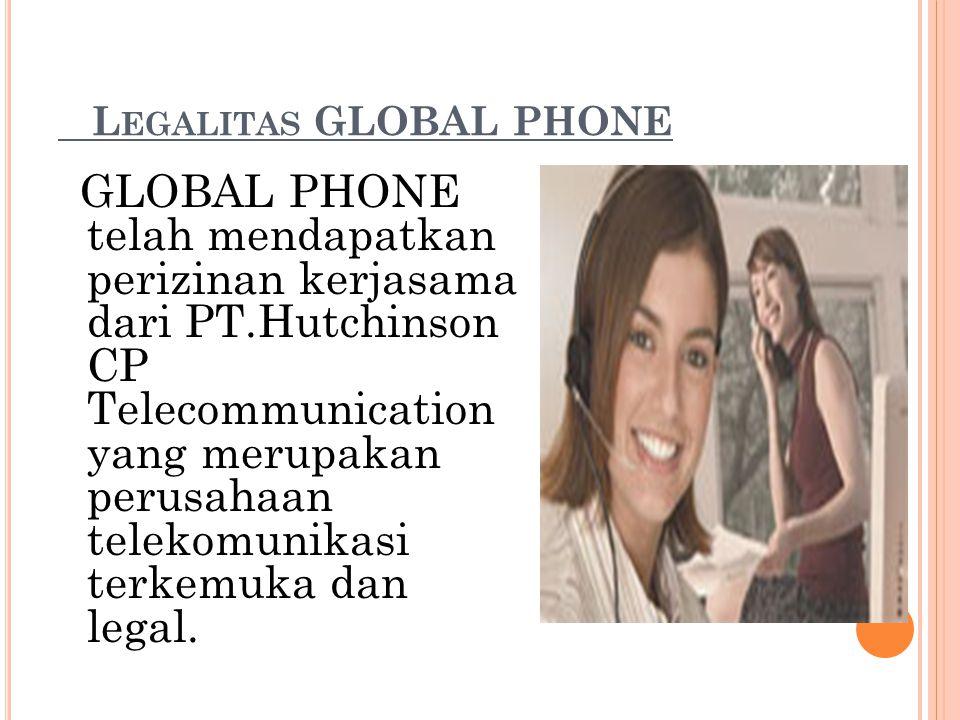 Legalitas GLOBAL PHONE
