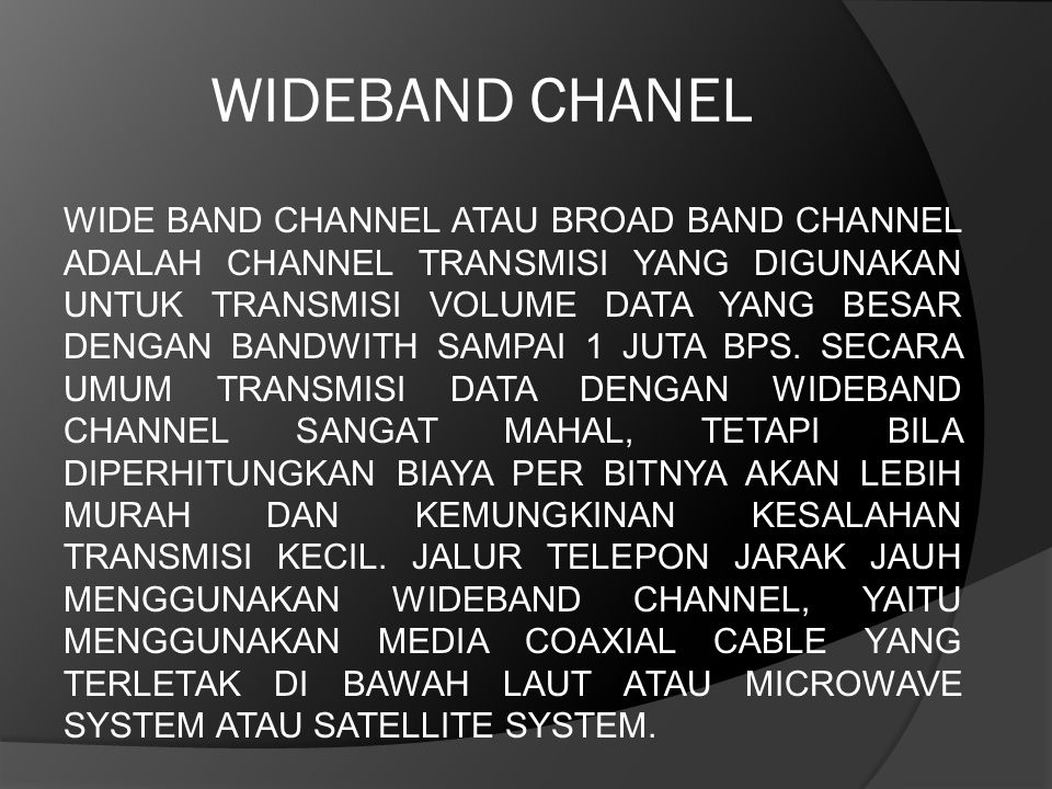 WIDEBAND CHANEL