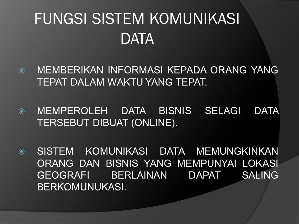 FUNGSI SISTEM KOMUNIKASI DATA