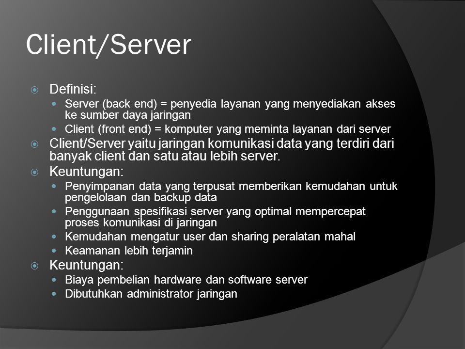 Client/Server Definisi: