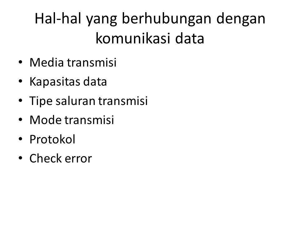 Hal-hal yang berhubungan dengan komunikasi data