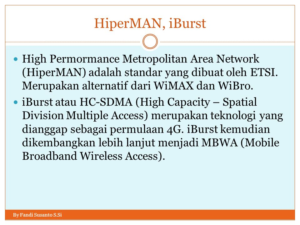 HiperMAN, iBurst