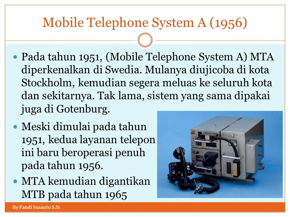 Mobile Telephone System A (1956)