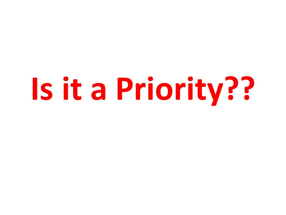 Is it a Priority