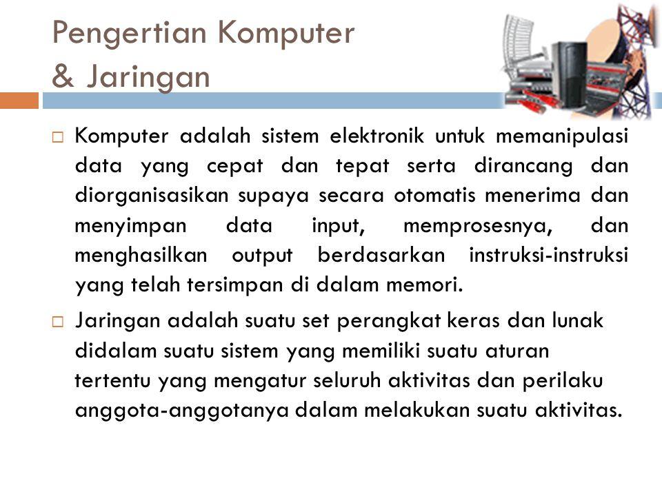 Pengertian Komputer & Jaringan