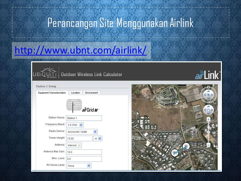 Perancangan Site Menggunakan Airlink