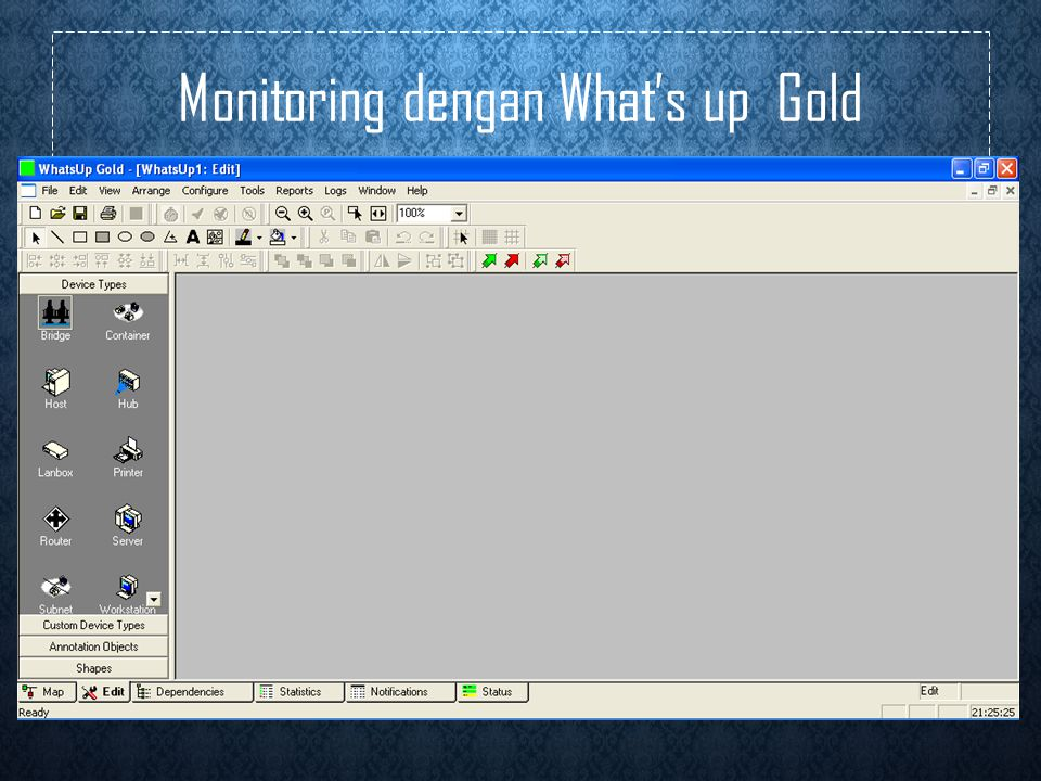 Monitoring dengan What's up Gold