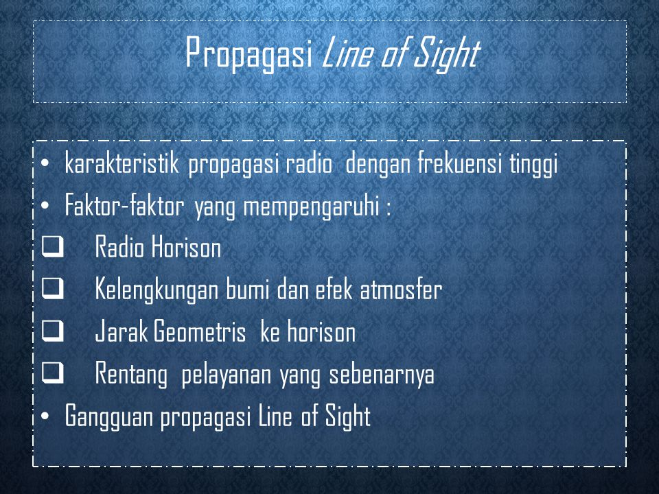 Propagasi Line of Sight