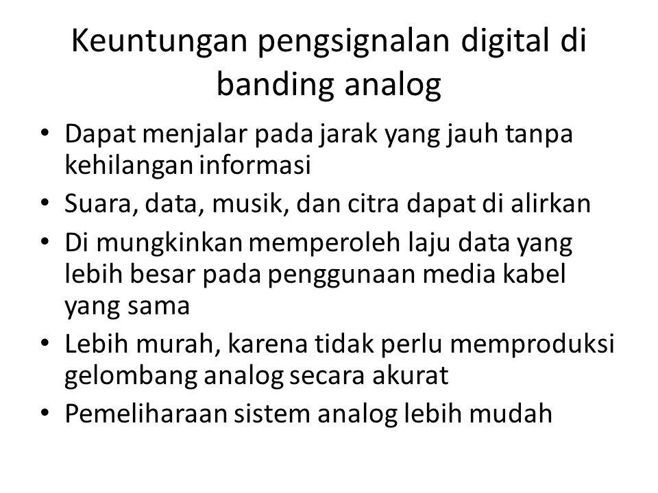 Keuntungan pengsignalan digital di banding analog