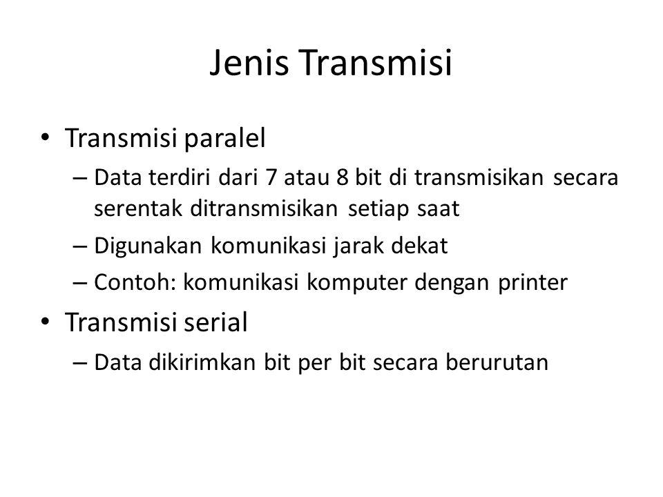 Jenis Transmisi Transmisi paralel Transmisi serial
