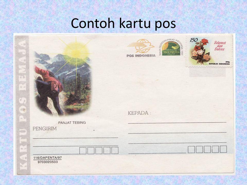 Contoh kartu pos