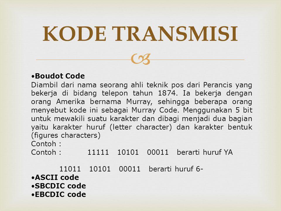 KODE TRANSMISI Boudot Code