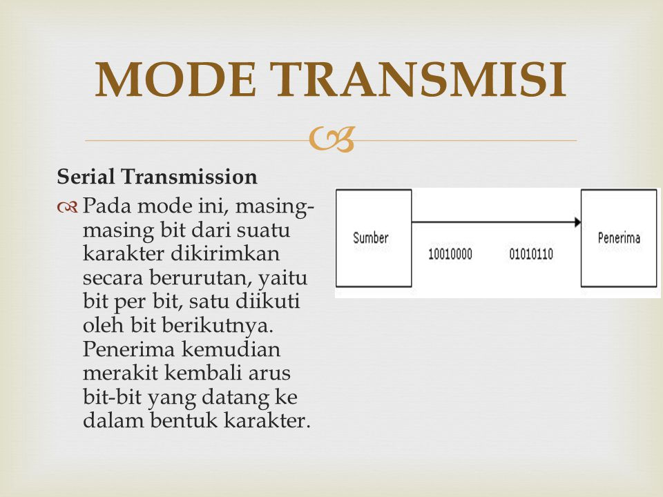 MODE TRANSMISI Serial Transmission