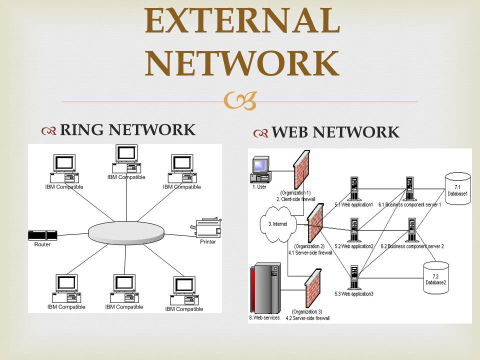 EXTERNAL NETWORK RING NETWORK WEB NETWORK