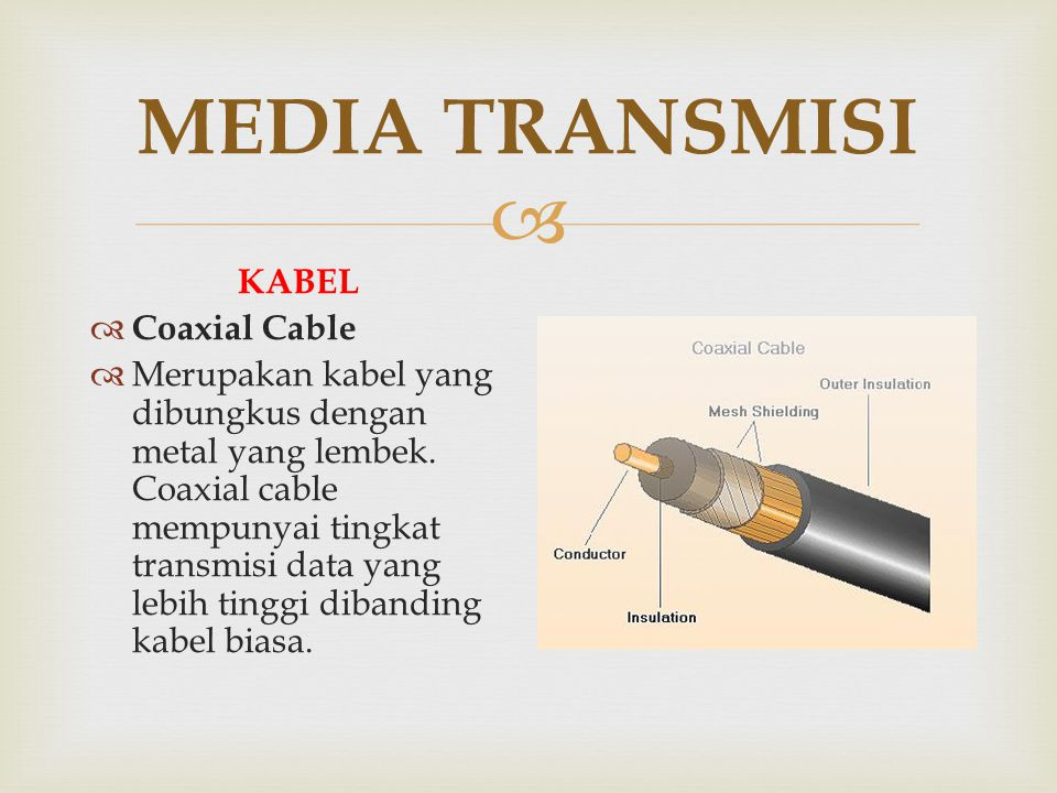 MEDIA TRANSMISI KABEL Coaxial Cable