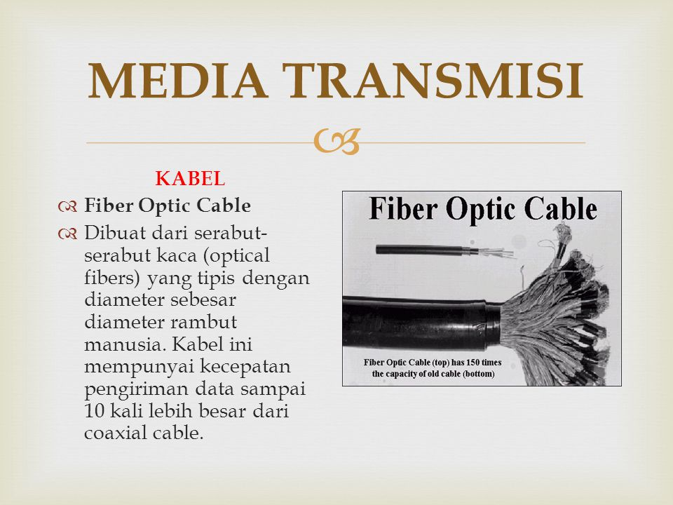 MEDIA TRANSMISI KABEL Fiber Optic Cable