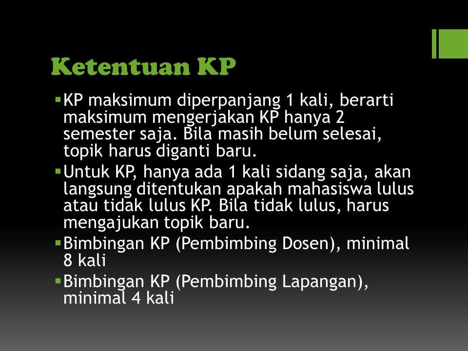Ketentuan KP