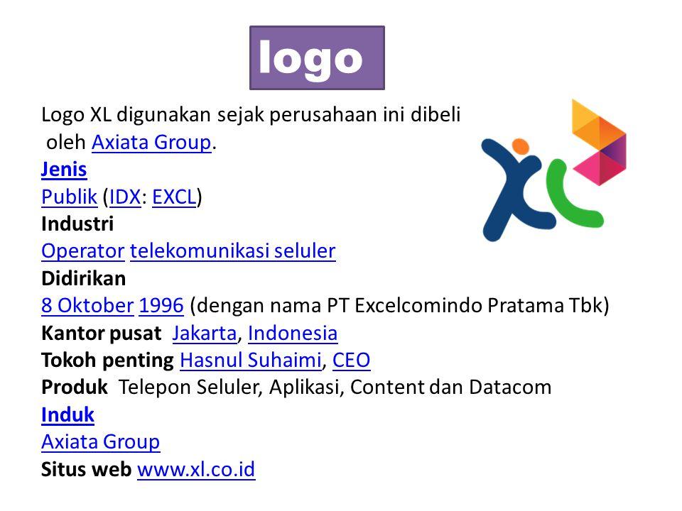 logo Logo XL digunakan sejak perusahaan ini dibeli oleh Axiata Group.