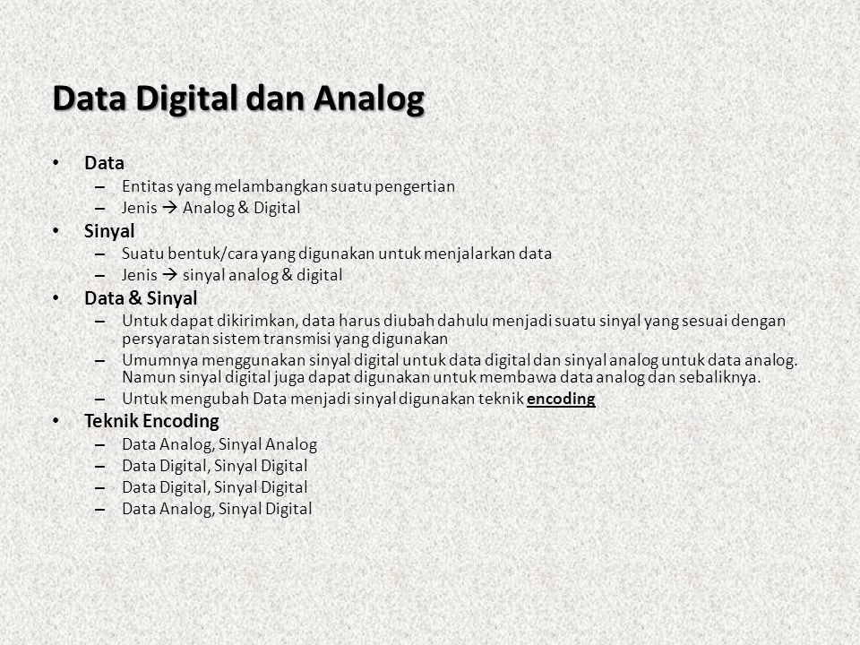 Data Digital dan Analog