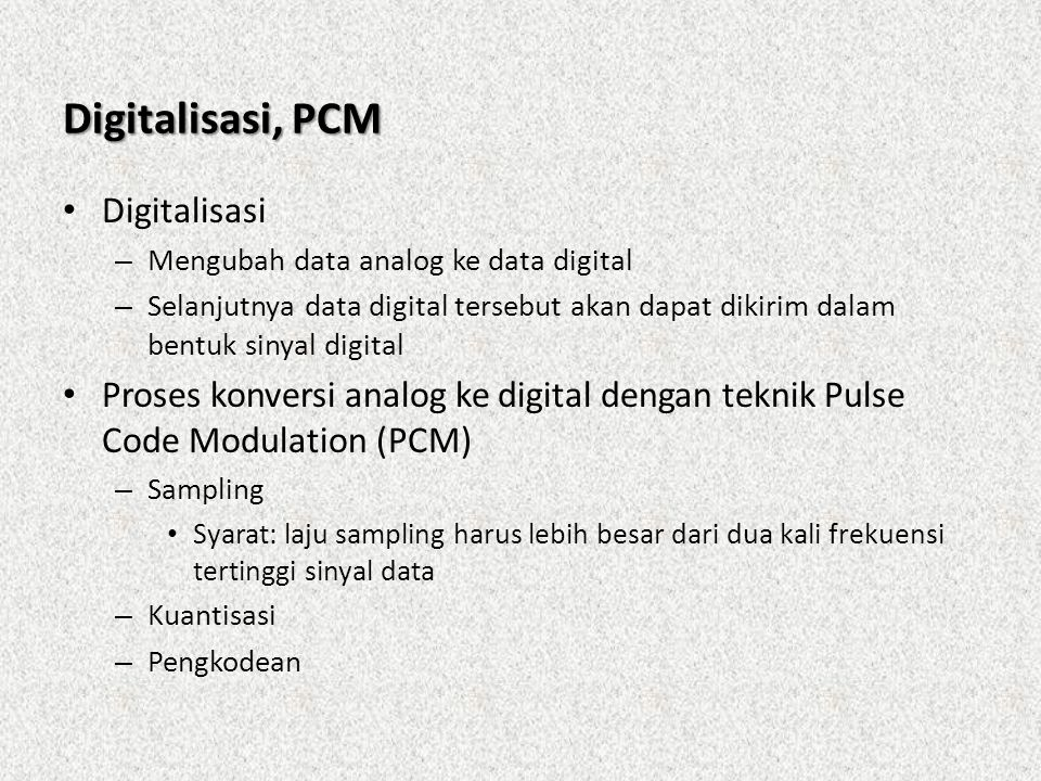 Digitalisasi, PCM Digitalisasi