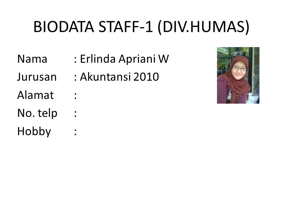 BIODATA STAFF-1 (DIV.HUMAS)