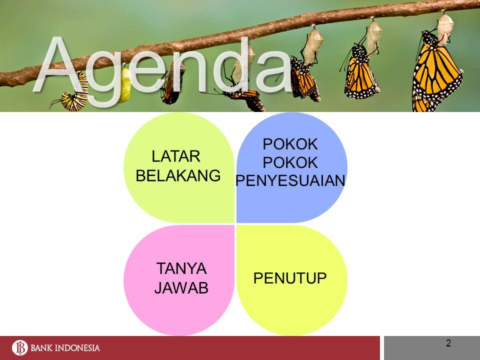 Agenda LATAR BELAKANG POKOK PENYESUAIAN TANYA JAWAB PENUTUP