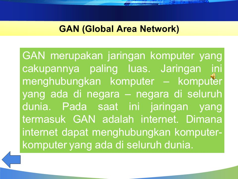 GAN (Global Area Network)