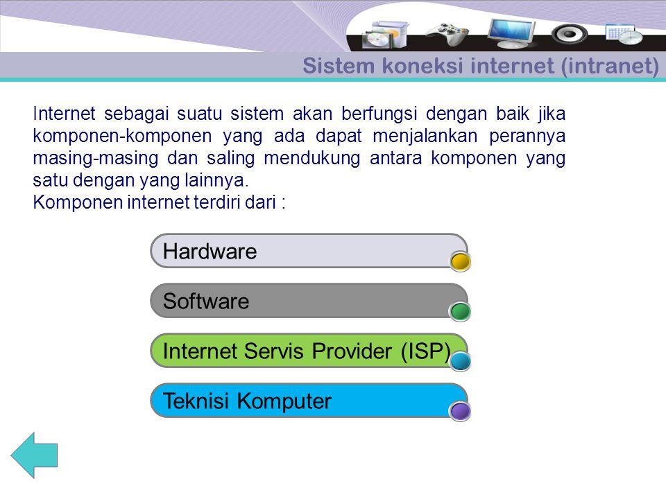 Sistem koneksi internet (intranet)