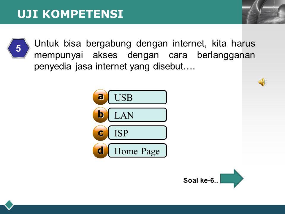 UJI KOMPETENSI USB LAN ISP Home Page