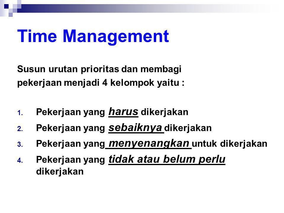 Time Management Susun urutan prioritas dan membagi