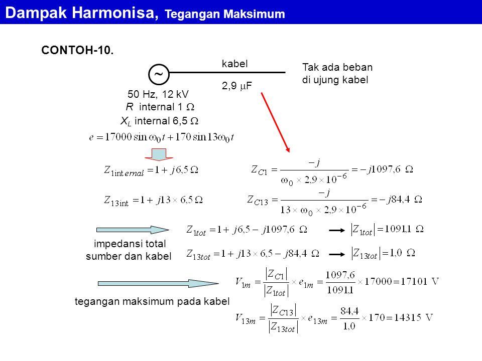 Dampak Harmonisa, Tegangan Maksimum