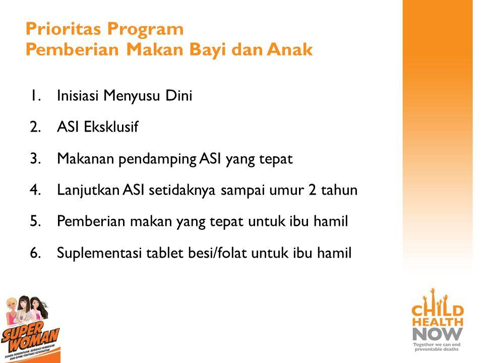 Prioritas Program Pemberian Makan Bayi dan Anak