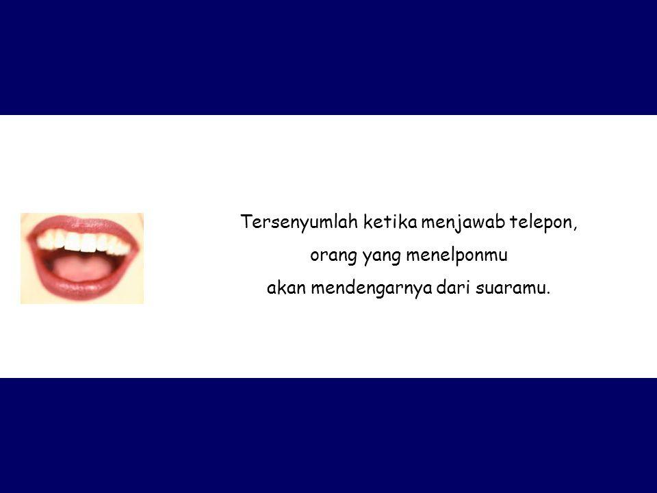Tersenyumlah ketika menjawab telepon, orang yang menelponmu