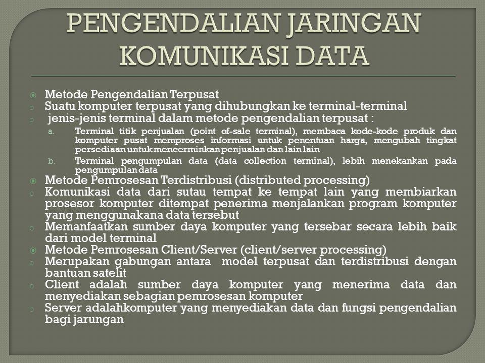 PENGENDALIAN JARINGAN KOMUNIKASI DATA