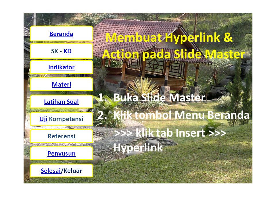 Membuat Hyperlink & Action pada Slide Master