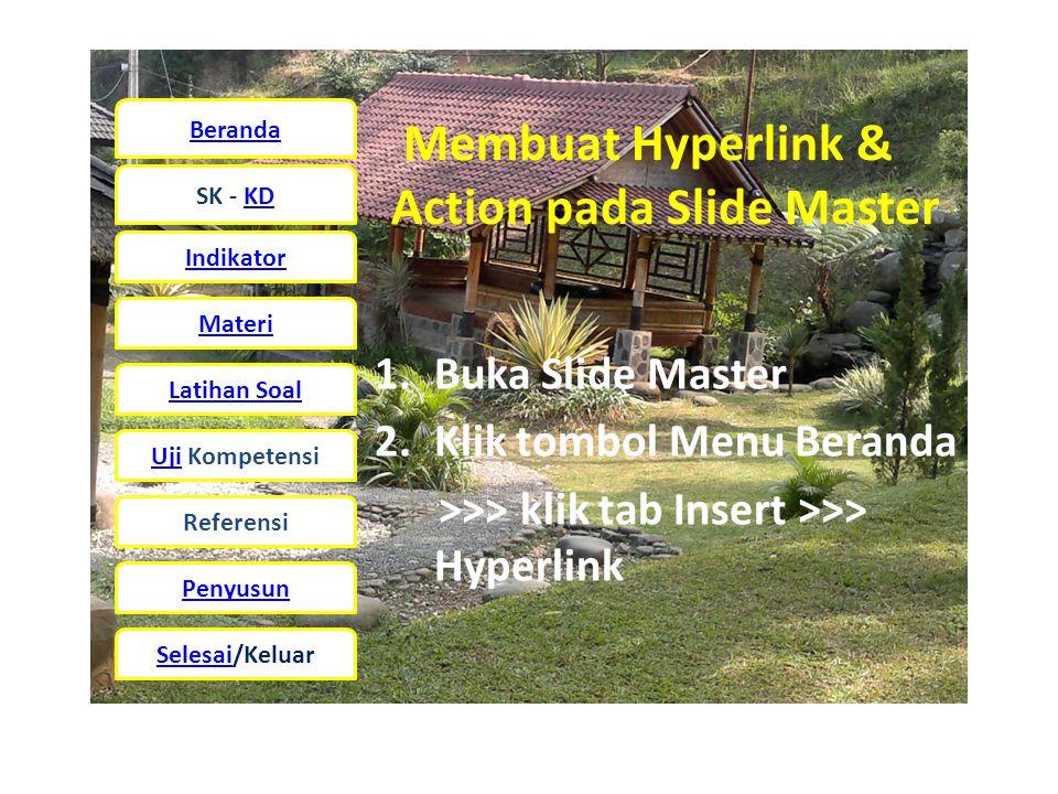Membuat Hyperlink & Action pada Slide Master