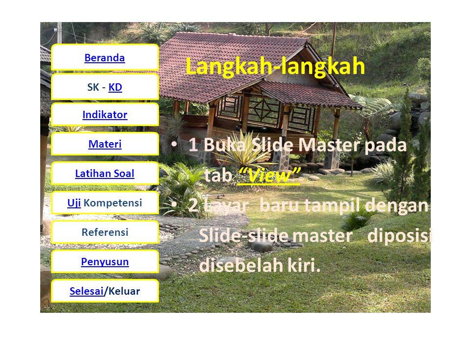 Langkah-langkah 1 Buka Slide Master pada tab View