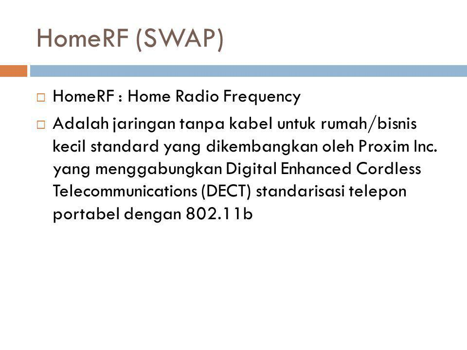 HomeRF (SWAP) HomeRF : Home Radio Frequency