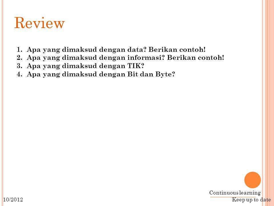 Review Apa yang dimaksud dengan data Berikan contoh!