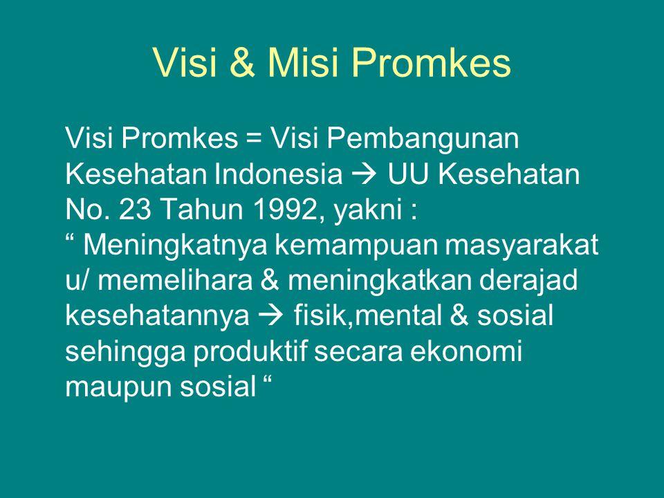 Visi & Misi Promkes