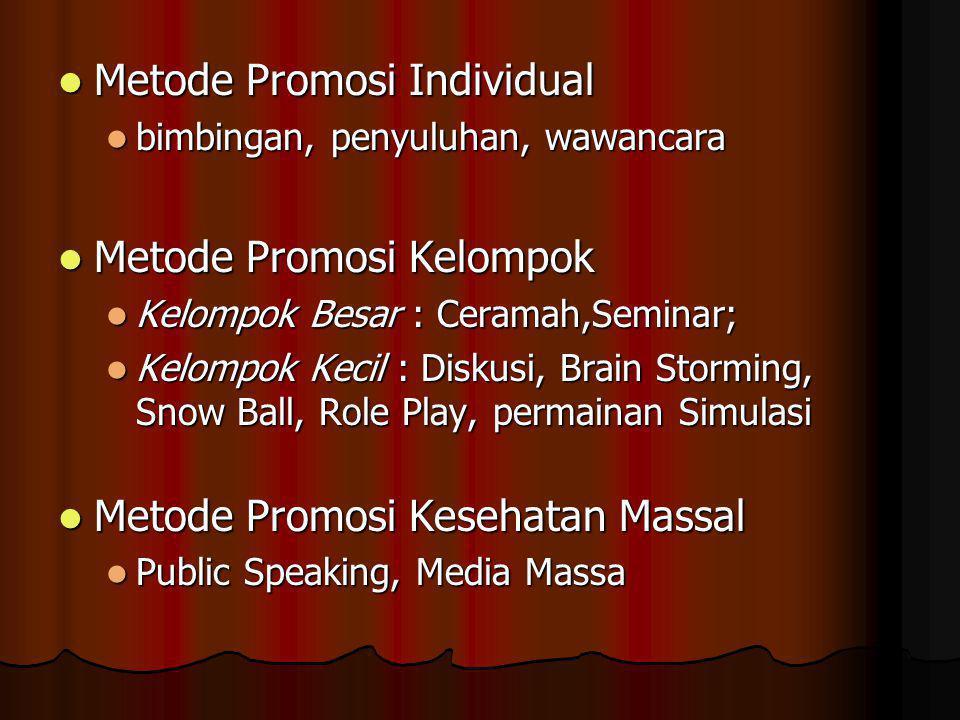 Metode Promosi Individual