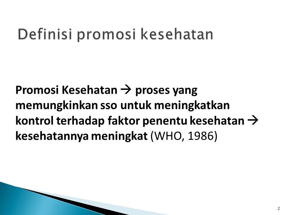 Definisi promosi kesehatan