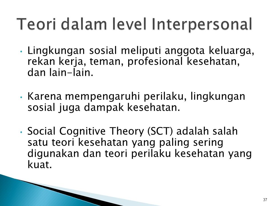 Teori dalam level Interpersonal
