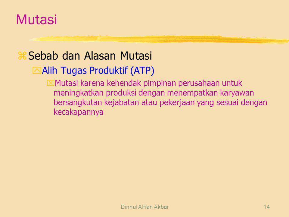 Mutasi Sebab dan Alasan Mutasi Alih Tugas Produktif (ATP)