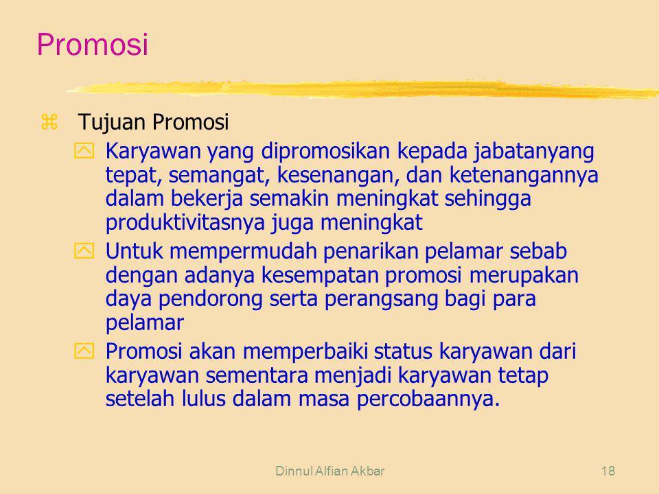 Promosi Tujuan Promosi